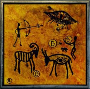 Helen Kholin - Cave Bitcoin painting