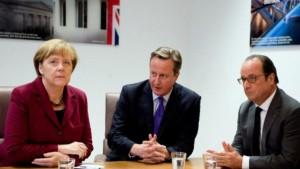 victoire du Brexit et chute de la livre : Cameron, Merkel, Hollande
